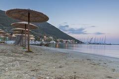 Vasiliki Sunrise, Lefkada, Ionische Eilanden Royalty-vrije Stock Afbeeldingen