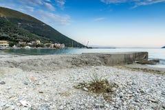 Vasiliki zmierzch, Lefkada, Ionian wyspy Obrazy Stock