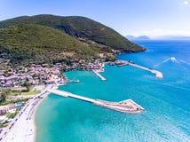 Vasilikistad in het Eiland Griekenland van Lefkada Stock Afbeeldingen