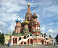 Vasily Blazhennogo's temple. On the Red area in Moscow stock photos