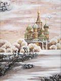 Vasily Blazhennogos Tempel Lizenzfreie Stockfotos