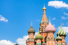 Vasily the Blessed cathedral in Moscow Stock Images