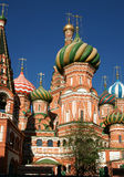 Vasily's temple Blessed. Vasily's temple Blessed, is photographed in Moscow Royalty Free Stock Images