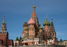 Vasily's temple Blessed. Royalty Free Stock Photos
