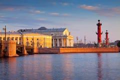 Vasilyevsky ö i sommardag Fotografering för Bildbyråer