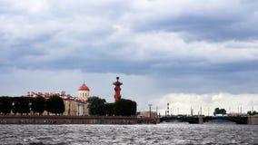 vasilyevsky ö St Petersburg Royaltyfri Fotografi