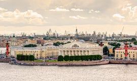 The Vasilyevsky Island in Saint Petersburg Stock Image