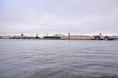 Vasilyevsky Island in San Pietroburgo, Russia Fotografia Stock Libera da Diritti