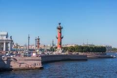 Vasilyevsky island. In summer, St Petersburg, Russia Royalty Free Stock Photography