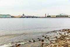 Vasilyevsky Ostrov view Royalty Free Stock Images