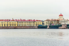Vasilyevsky Ostrov view from Neva Royalty Free Stock Photos