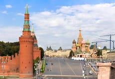 Vasilyevsky Spusk Square in Moscow Stock Photography