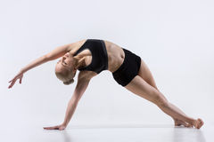 Vasisthasana Pose with bending Stock Images