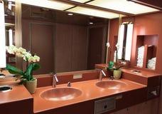 Vask i toaletten Arkivfoto