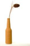 Vaso antico con le piante asciutte. Fotografie Stock
