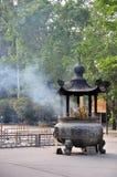Vaso antico del bastone al Po Lin Monastery Fotografia Stock