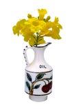 Vaso antico 1800 dipinto a mano Immagini Stock
