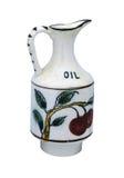 Vaso antico 1800 dipinto a mano Fotografia Stock Libera da Diritti