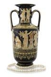 Vaso antigo no fundo branco Imagem de Stock Royalty Free