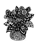 Vaso astratto con il fiore illustrazione di stock