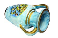 Vaso azul velho Fotografia de Stock Royalty Free