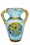 Vaso azul velho Imagem de Stock Royalty Free