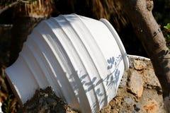 Vaso bianco immagini stock