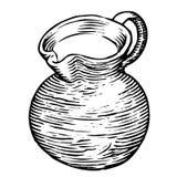 Vaso in bianco e nero del vino Fotografia Stock Libera da Diritti