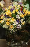 Vaso bonito com as margaridas do ² do anÐ das rosas Fotos de Stock Royalty Free