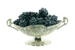 Vaso bonito com uvas Imagem de Stock Royalty Free