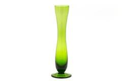 Vaso bonito do vidro verde isolado no fundo branco Foto de Stock Royalty Free