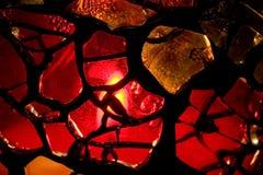 Vaso casalingo di vetro macchiato Fotografia Stock Libera da Diritti