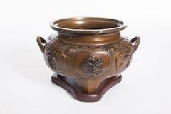 Vaso cerâmico da porcelana velha imagens de stock