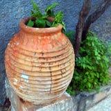 Vaso ceramico grande Fotografie Stock Libere da Diritti