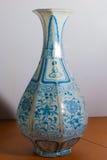 Vaso chinês azul e branco Imagens de Stock