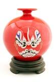 Vaso chinês da porcelana isolado Fotografia de Stock Royalty Free