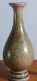 Vaso chinês verde e marrom Fotos de Stock