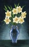 Vaso com Narcissus Flowers Imagem de Stock