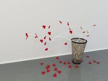 Vaso com os ramos criativos, Fotografia de Stock Royalty Free