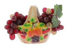Vaso com uvas Imagens de Stock