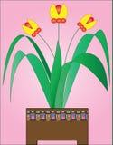 Vaso con i fiori Immagini Stock Libere da Diritti