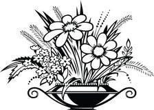 Vaso con i fiori Fotografie Stock Libere da Diritti