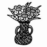 Vaso con i fiori royalty illustrazione gratis