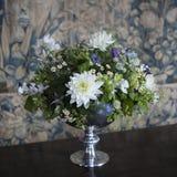 Vaso con il crisantemo bianco Fotografia Stock
