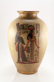 Vaso con il reticolo egiziano Fotografia Stock Libera da Diritti