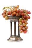 Vaso con l'uva Fotografia Stock