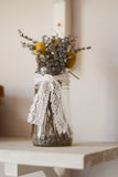 Vaso con lavanda Fotografia Stock Libera da Diritti