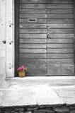 Vaso da fiori di vimini Foto in bianco e nero di Pechino, Cina Fotografie Stock Libere da Diritti