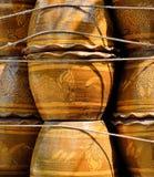 Vaso da fiori fatto da argilla al forno Fotografia Stock Libera da Diritti