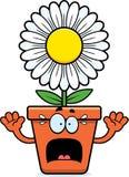 Vaso da fiori spaventato del fumetto Immagini Stock Libere da Diritti
